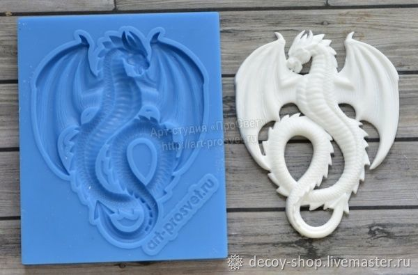 Mold 'Dragon', Elements for decoupage and painting, Serpukhov,  Фото №1
