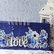 """Свадебный салон ручной работы. Ярмарка Мастеров - ручная работа Свадебная сберкнижка """"Гжель"""". Handmade."""