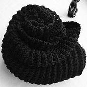 """Аксессуары ручной работы. Ярмарка Мастеров - ручная работа Шарф снуд""""Чёрный кот"""". Handmade."""