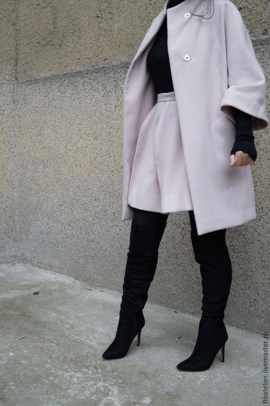 Верхняя одежда ручной работы. Ярмарка Мастеров - ручная работа. Купить Шерстяное пальто/Бежевое пальто/F1535. Handmade. Бежевый, пальто из шерсти