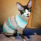 Одежда для питомцев ручной работы. Ярмарка Мастеров - ручная работа Вязаная одежда из хлопка для кошек сфинксов. Handmade.