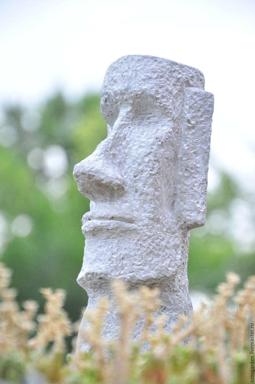 Figurines Handmade. Livemaster   Handmade. Buy Moai Statue Made Of Concrete  For Interior Decoration ...