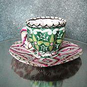 Для дома и интерьера ручной работы. Ярмарка Мастеров - ручная работа Чайник, чашка из ткани, текстильный чайник, сервиз текстиль.. Handmade.