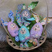 Куклы и пупсы ручной работы. Ярмарка Мастеров - ручная работа Пасхальные зайки-яйки. Handmade.