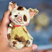 Куклы и игрушки handmade. Livemaster - original item Pig Chin-Chin baby teddy piggy. Handmade.
