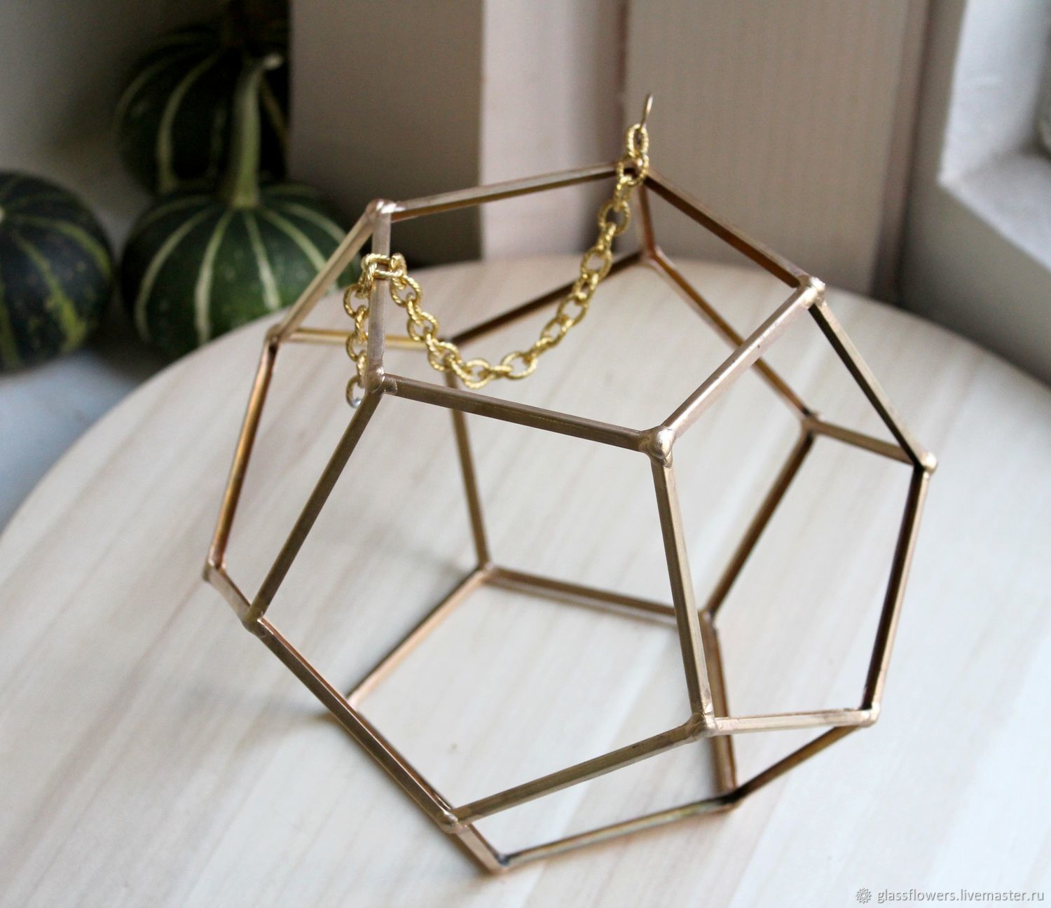 Brass hollow geometric shape with no glass for decorating Loft – shop  online on Livemaster with shipping - H1OEHCOM   St  Petersburg