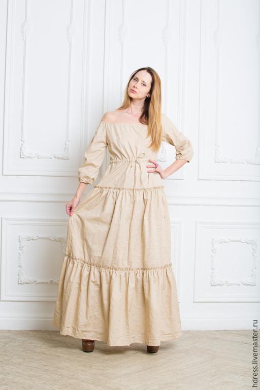 """Платья ручной работы. Ярмарка Мастеров - ручная работа. Купить Супер Цена! платье """"Нежность"""" из бежевого шитья. Handmade. Платье"""