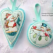 Подарки к праздникам handmade. Livemaster - original item Set 5pcs Christmas decorations out of felt and fabric