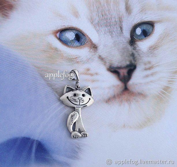 Кулоны, подвески ручной работы. Ярмарка Мастеров - ручная работа. Купить Подвеска Кэтсвилл серебро 925. Handmade. Кулон кошка