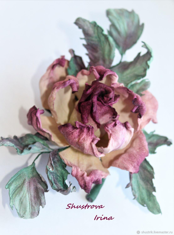 Rose ' Queen', Brooch-clip, Sergiev Posad,  Фото №1