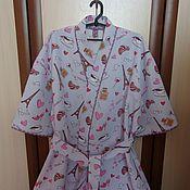 Одежда ручной работы. Ярмарка Мастеров - ручная работа Женский вафельный халат (кимоно). Handmade.