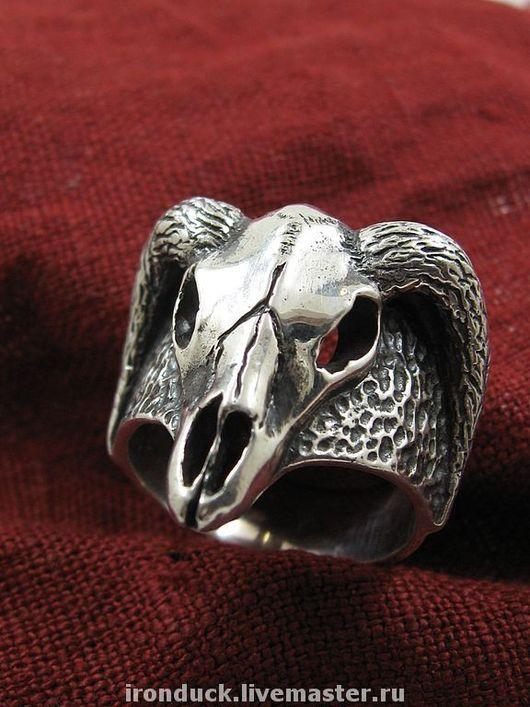 """Кольца ручной работы. Ярмарка Мастеров - ручная работа. Купить кольцо """"Череп Козерога"""". Handmade. Знак зодиака, мужской подарок"""