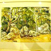 """Картины и панно ручной работы. Ярмарка Мастеров - ручная работа акварель """" Летний  пейзаж"""". Handmade."""