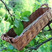 Для дома и интерьера handmade. Livemaster - original item Baskets for serving Cocoa, wicker with handles. Handmade.