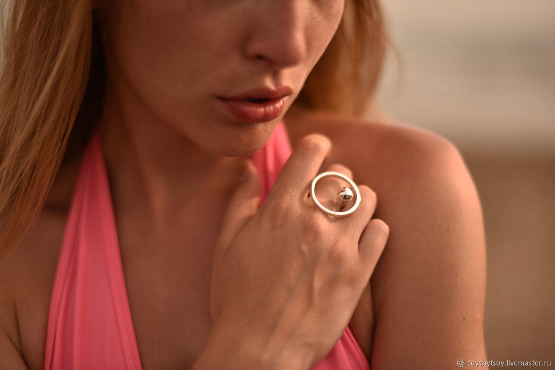 Кольцо Moon из серебра 925 пробы. Сделано с любовью на Бали. Необычный дизайн.