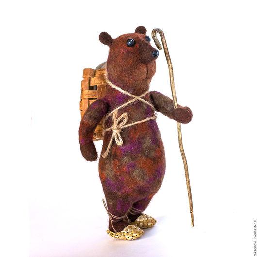 Игрушки животные, ручной работы. Ярмарка Мастеров - ручная работа. Купить Игрушка из шерсти Медведь Потапыч обходит свои владенья. Handmade.