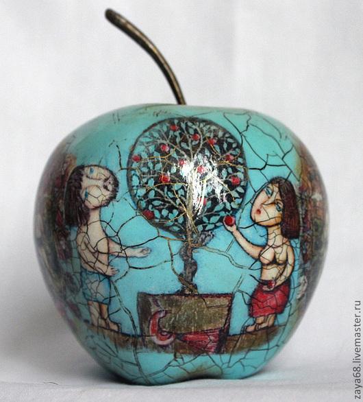 """Подарки для влюбленных ручной работы. Ярмарка Мастеров - ручная работа. Купить Яблоко """"Адам и Ева"""" № 2. Handmade. Голубой"""
