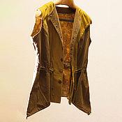 Одежда ручной работы. Ярмарка Мастеров - ручная работа Жилет Сафари. Handmade.