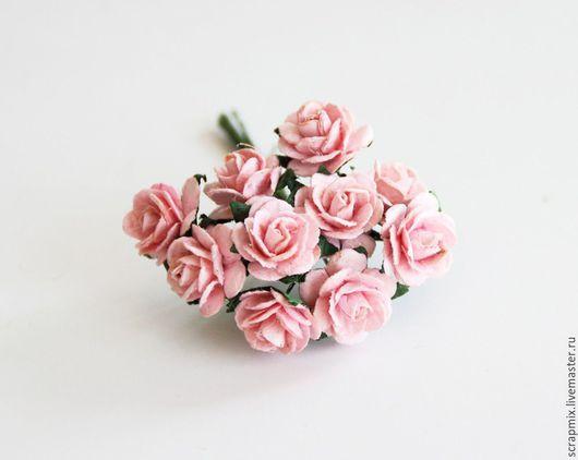 Открытки и скрапбукинг ручной работы. Ярмарка Мастеров - ручная работа. Купить Цветы розы 15 мм цвет розово- персиковый. Handmade.
