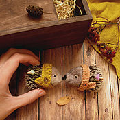 Украшения ручной работы. Ярмарка Мастеров - ручная работа осенние ежики. Handmade.