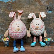 Куклы и игрушки ручной работы. Ярмарка Мастеров - ручная работа Пасхальные кролики. Handmade.