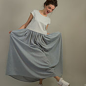 Одежда ручной работы. Ярмарка Мастеров - ручная работа Платье на кнопках (Топ Мини + Юбка Макси). Handmade.