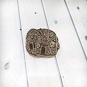 Материалы для творчества ручной работы. Ярмарка Мастеров - ручная работа Штамп деревянный - слон. Handmade.