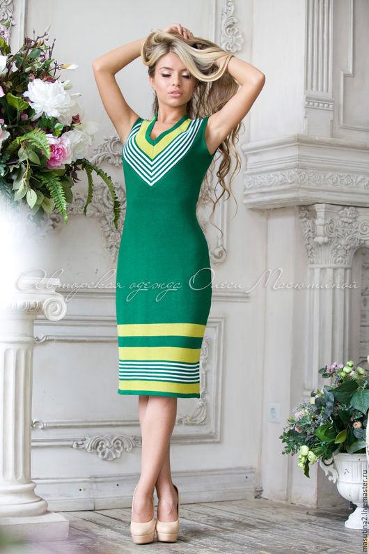 """Платья ручной работы. Ярмарка Мастеров - ручная работа. Купить Платье """"Летняя зелень"""". Handmade. Зеленый, зеленое платье"""