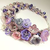 Украшения handmade. Livemaster - original item Intoxicating Lilacs. Necklace, flowers. Handmade.