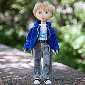 Куклы и игрушки ручной работы. Ярмарка Мастеров - ручная работа Текстильная интерьерная кукла-мальчик. Handmade.