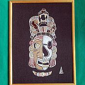 Картины и панно handmade. Livemaster - original item Mesoamerican Mask (Aztecs. Maya. The Cult of the Jaguar). Handmade.