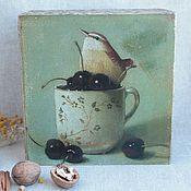 """Для дома и интерьера ручной работы. Ярмарка Мастеров - ручная работа Короб """"Одна маленькая, но гордая птичка.."""". Handmade."""