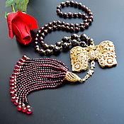 Украшения handmade. Livemaster - original item Garnet necklace GOLDEN BANT Natural stones Author`s work. Handmade.