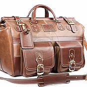 """Сумки и аксессуары handmade. Livemaster - original item Кожаный дорожный саквояж """"Большой"""" коричневй. Handmade."""