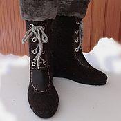 Обувь ручной работы handmade. Livemaster - original item Boots black lace up. Handmade.