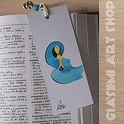 Канцелярские товары ручной работы. Ярмарка Мастеров - ручная работа Закладка для книг №2. Handmade.
