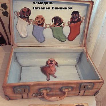 """Для дома и интерьера ручной работы. Ярмарка Мастеров - ручная работа """"Целый чемодан счастья!"""" (чемодан-декупаж). Handmade."""