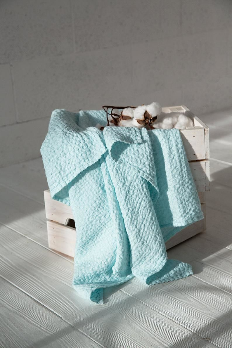 Linen waffle towel Mint-a Gentle pleasure from flax, Towels, Moscow,  Фото №1