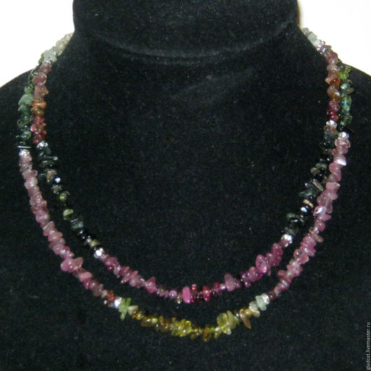 Колье, бусы ручной работы. Ярмарка Мастеров - ручная работа. Купить Бусы, ожерелье (турмалин). Handmade. Комбинированный, полудрагоценные камни