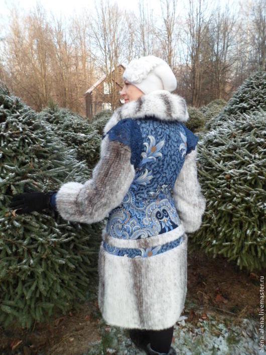 """Верхняя одежда ручной работы. Ярмарка Мастеров - ручная работа. Купить Зимнее пальто """"Морозко"""".. Handmade. Цветочный, пальто с мехом"""