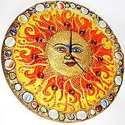 Для дома и интерьера ручной работы. Ярмарка Мастеров - ручная работа Настенные Часы Ярило - Солнце. Handmade.