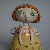 Сувениры и подарки handmade. Livemaster - original item Ceramic Angel Bell. Handmade.