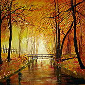 """Картины и панно ручной работы. Ярмарка Мастеров - ручная работа """"Осень""""- картина 60/60 маслом на подрамнике. Handmade."""