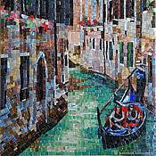 Картины и панно handmade. Livemaster - original item Picture of the mosaic. Venice. Channel. Handmade.