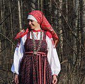 Русский стиль ручной работы. Ярмарка Мастеров - ручная работа Наряд традиционный русский. Handmade.