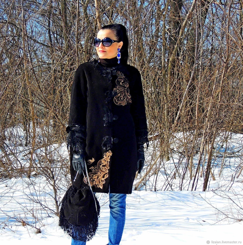 классический стиль, пальто черное классическое, бархатное пальто, пальто женское черное, пальто с натуральным мехом, женский кардиган, плащ женский