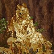 """Картины и панно ручной работы. Ярмарка Мастеров - ручная работа Картина""""Волки"""". Handmade."""