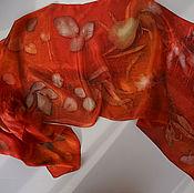 Аксессуары ручной работы. Ярмарка Мастеров - ручная работа шарф шелковый ручного окрашивания. Handmade.
