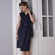 Одежда ручной работы. Ярмарка Мастеров - ручная работа Платье-жилет из искусственной замши. Handmade.