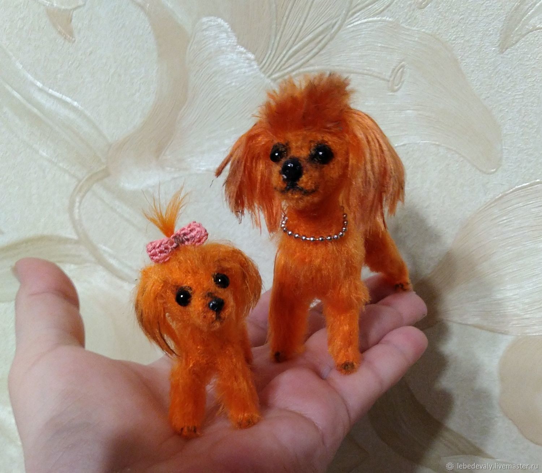 ON SALE Poodles-miniature 4 and 9 cm, crocheted, Miniature figurines, Surgut,  Фото №1